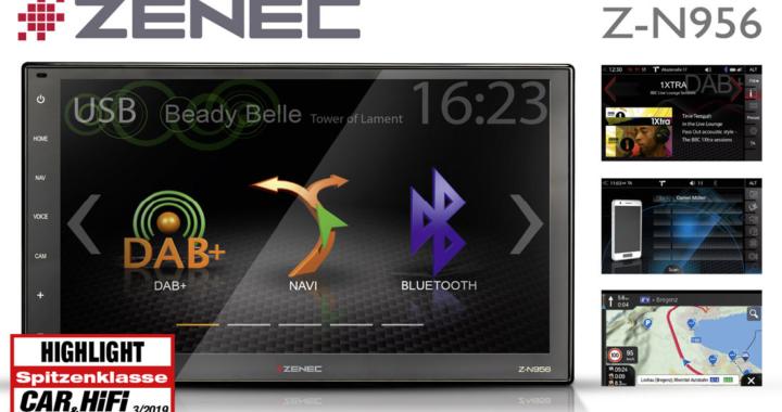"ZENEC's Z-N956 Infotainer awarded ""Highlight"" Accolade"