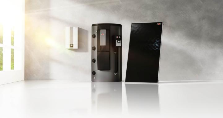 Ein aufeinander abgestimmtes Team: Brennwertgerät und Solarthermie