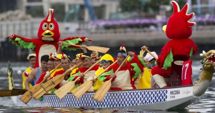 Drachenboote und Brötchen erobern Hongkong