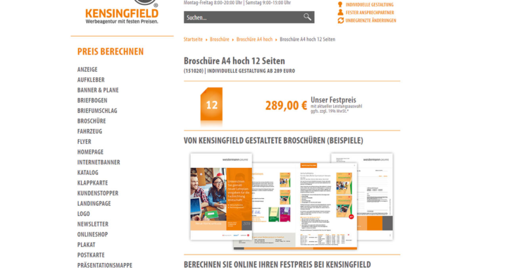 Firmenbroschüre A4 hoch 12 Seiten – schon ab 289 Euro