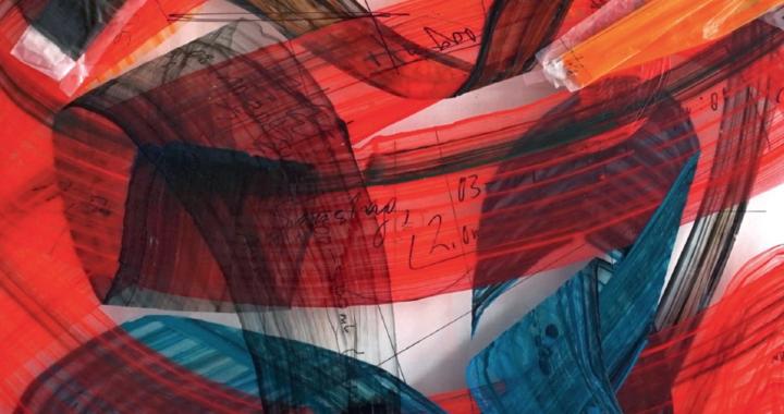 Joseph Marsteurer: Farbstreifen, gelegt, gewickelt