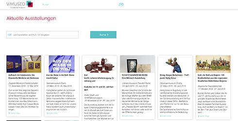 Museen präsentieren ab sofort Ausstellungen online auf ViMuseo