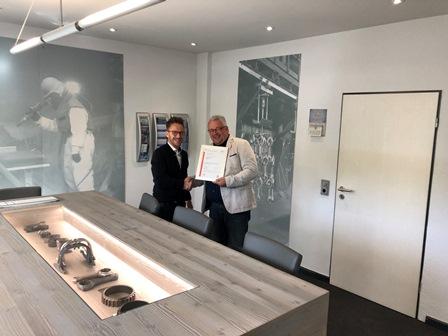 Energiemanagement:   KST Kugel-Strahltechnik nach DIN 50001 zertifiziert