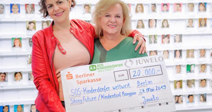 Juwelo spendet über 55.000 Euro an SOS-Kinderdörfer weltweit