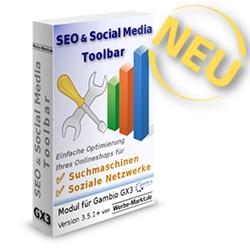 SEO & Social Media Toolbar für Gambio GX3
