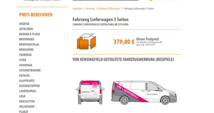 Fahrzeugwerbung Lieferwagen 3 Seiten – schon ab 379 Euro