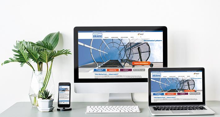 Neue Internetseite des Alsfelder Steigtechnik-Herstellers KRAUSE