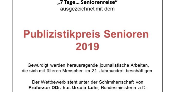 Publizistikpreis Alter zum 13. Mal verliehen – Die Preisträger