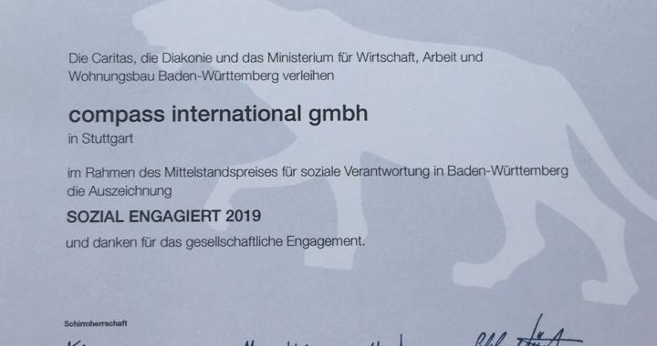 compass international beim Mittelstandspreis Lea geehrt
