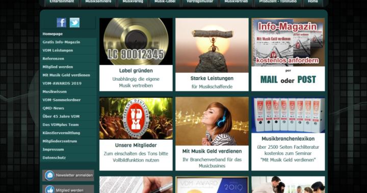Musikbranchenverband VDMplus mit frischem Internetauftritt