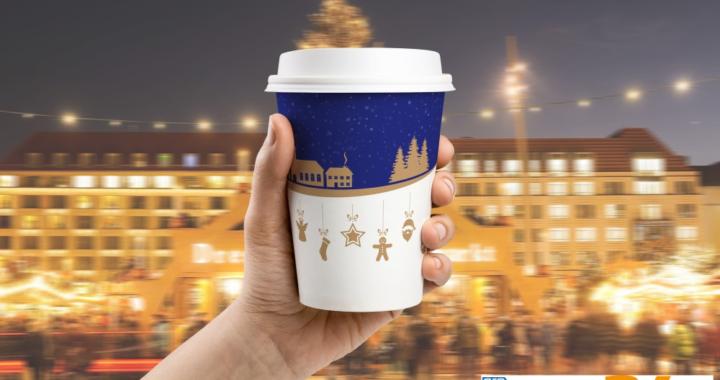 Kompostierbare Glühweinbecher für die Weihnachtsmarkt Saison 2019
