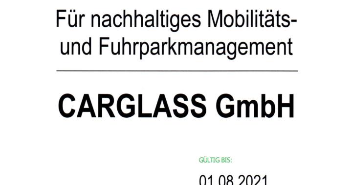 Nachhaltigkeit; Carglass® mit BVF-Umweltaudit zertifiziert