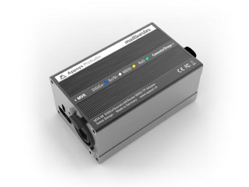 Appsys Multiverter MVR-64 erhält Firmware-Update und Breakout-Box MTA-64 für MADI-Kompatibilität mit DiGiCo, Soundcraft und Studer