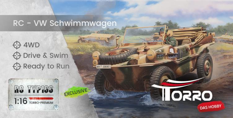 Torro GmbH: Einzigartiger RC VW TYP166 Schwimmwagen auf der Modell Hobby Spiel Leipzig