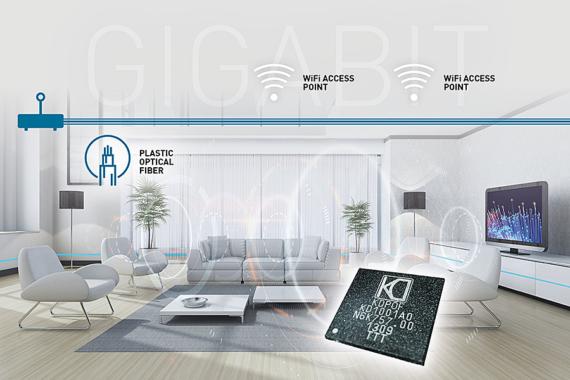 """Comtrend Integrates KDPOF""""s Gigabit Ethernet POF for Home Networks"""