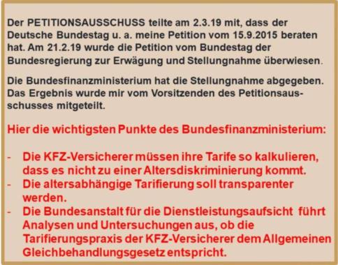 Altersdiskriminierung der KFZ-Versicherung unzulässig?