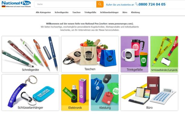 Website-Relaunch beim Werbeartikel-Anbieter National Pen