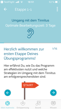Barmenia erstattet ab sofort eine Online-Tinnitustherapie per App für vollversicherte Kunden