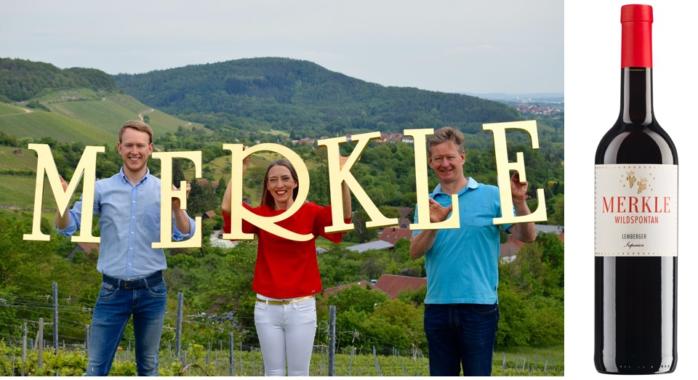 """Weingut Merkle """"wildspontan"""" ganz oben"""