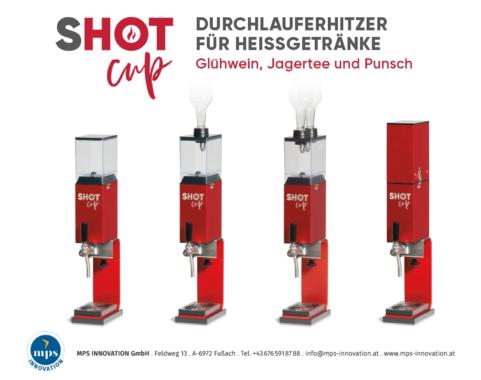SHOT CUP – Durchlauferhitzer für Glühwein, Punsch und Jagertee
