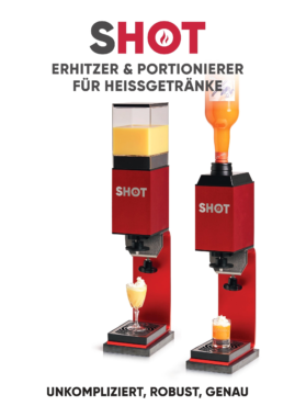 SHOT – Erhitzer & 2cl/4cl Portionierer für Liköre