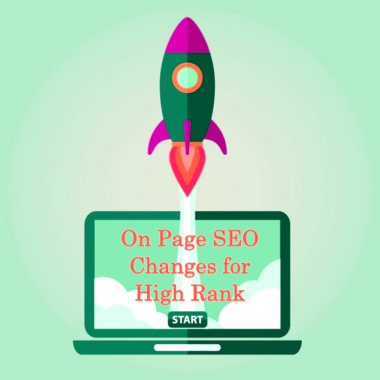 8 On page seo changes for high ranks, tip to do now