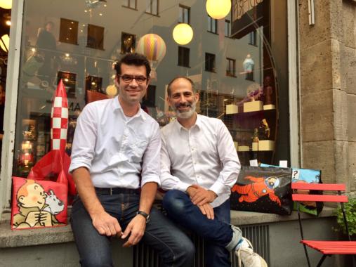 Auf den Spuren von Tim und Struppi im Frankfurter Pop-up-Store