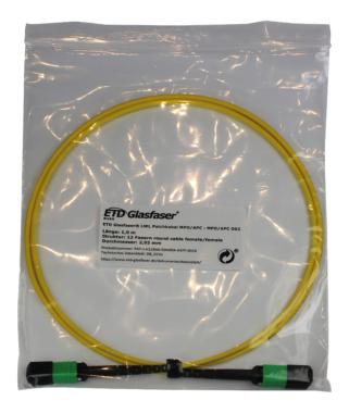 ETD Glasfaser® bietet konfektionierte MPO Kabel mit extrem geringer Einfügedämpfung