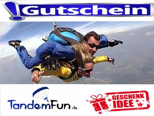 Fallschirmsprung Geschenk Gutschein zu Weihnachten
