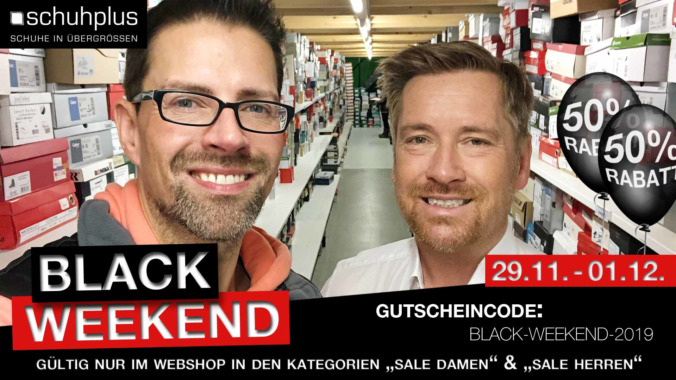 Black Weekend bei schuhplus