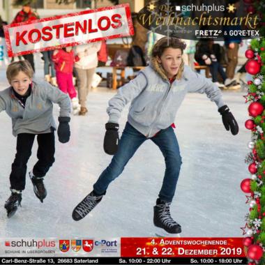 Im Saterland am c-Port gibt es den ersten schuhplus – Weihnachtsmarkt mit Eislaufbahn