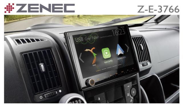 Extra Large Display: ZENEC Z-E3766 Sat Nav for Fiat Ducato