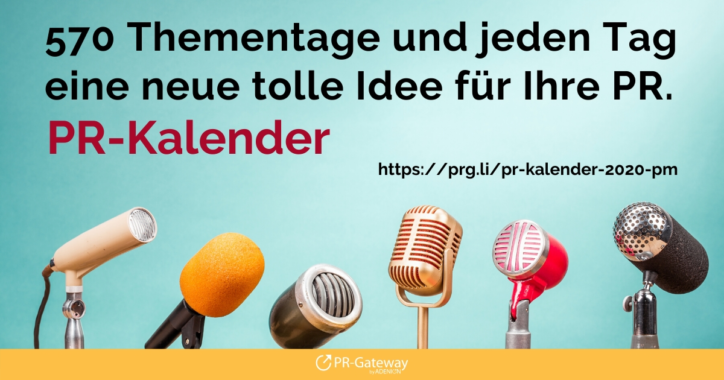 PR-Kalender – der perfekte Jahres-Begleiter für die Pressearbeit