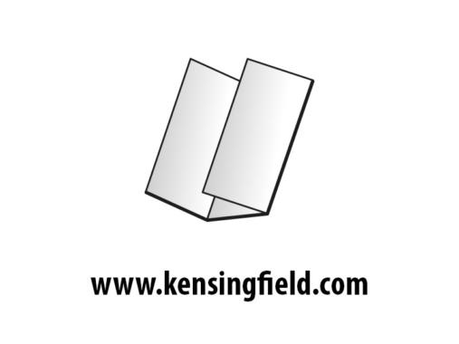 Kensingfield: Falzflyer DL hoch 6 Seiten Wickelfalz