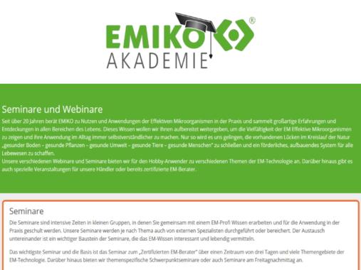 EMIKO Akademie stellt Jahresprogramm 2020 vor
