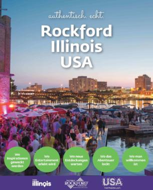 Neue kostenlose Reisebroschüre über Rockford/Illinois