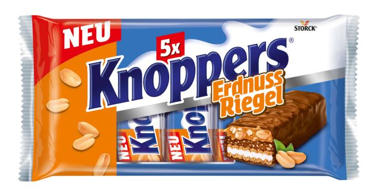 Knoppers jetzt auch als ErdnussRiegel und KokosRiegel