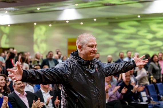 Joschi Haunsperger als Experte bei Hermann Scherers Weltrekord