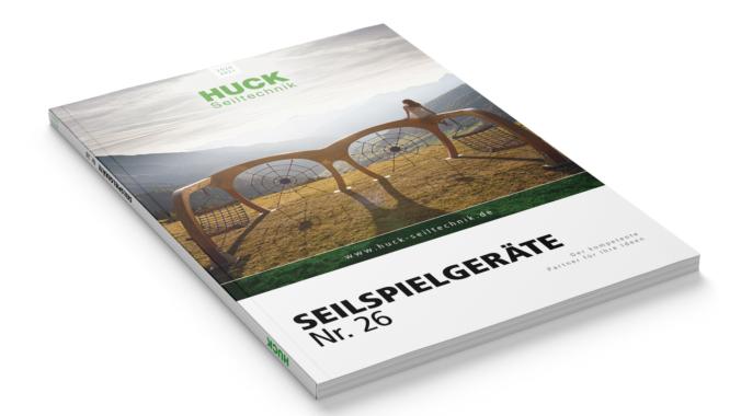 Neu: Der HUCK Seilspielgeräte-Katalog Nr. 26