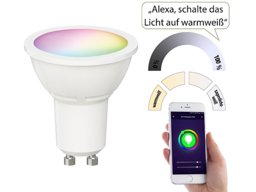 Luminea Home Control WLAN-LED-Spot LAV-200.rgbw