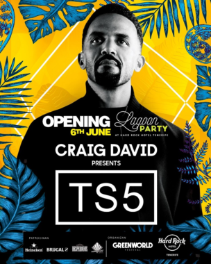 Craig David ist Headliner im Hard Rock Hotel Tenerife