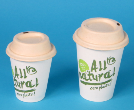 Bio Kaffeebecher aus 100% Papier für ein nachhaltiges Coffee to go Geschäft