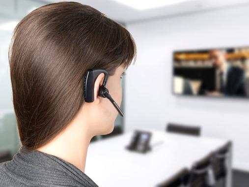 Callstel Headset, Bluetooth 5, aptX,  2 HD-Mikrofone