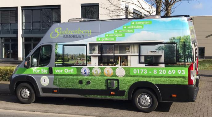 Erstes mobiles Immobilienbüro von Stolzenberg Immobilien