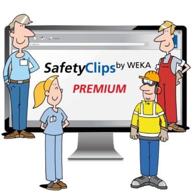 SafetyClips by WEKA MEDIA: Arbeitsschutzunterweisungen  per Stream