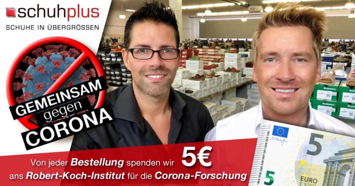 Nicht reden: Handeln! schuhplus unterstützt Robert Koch-Institut in der Corona-Forschung