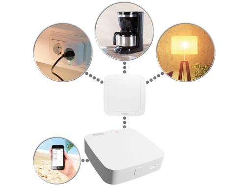 Luminea Home Control Smarthome-Schalt-Set RC-250.btx