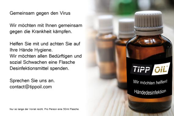 Tipp Oil hilft Menschen gegen Covid 19