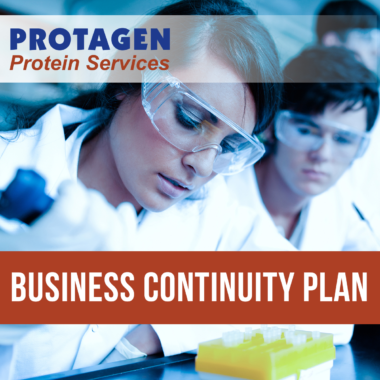 Business Continuity Plan – Message from Protagen Protein Services (PPS)