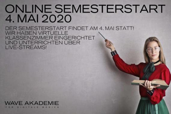 WAVE AKADEMIE für Digitale Medien startet Sommersemester am 4. Mai 2020!
